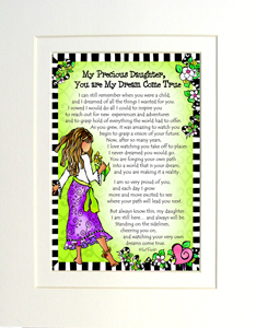 Precious daughter art print matted
