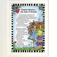 "Kindred Spirits… the Best of Friends – 8 x 10 Matted ""Gifty"" Art Print"