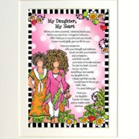 """My Daughter, My Heart – 8 x 10 Matted """"Gifty"""" Art Print"""