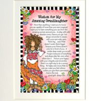 "Wisdom for My Amazing Granddaughter – 8 x 10 Matted ""Gifty"" Art Print"