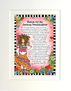 Amazing granddaughter art print matted