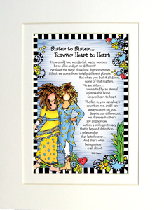 Sister to Sister art print matted