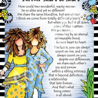 """Sister to Sister… Forever Heart to Heart – 8 x 10 Matted """"Gifty"""" Art Print"""