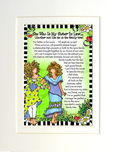 Sister-in-law art print matted
