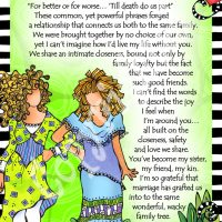 """She Who is My Sister-In-Law… another nut like me in the family tree – 8 x 10 Matted """"Gifty"""" Art Print"""