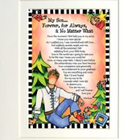 """My Son… Forever, For Always & No Matter What – 8 x 10 Matted """"Gifty"""" Art Print"""