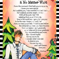 "My Son… Forever, For Always & No Matter What – 8 x 10 Matted ""Gifty"" Art Print"