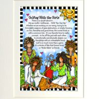 """Golfing with the Girls – 8 x 10 Matted """"Gifty"""" Art Print"""