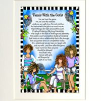 "Tennis with the Girls – 8 x 10 Matted ""Gifty"" Art Print"