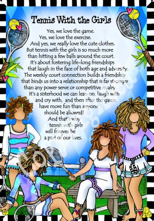 They who love to play tennis art print