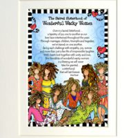"Sacred Sisterhood of Wonderful Wacky Women (8 girls) – 8 x 10 Matted ""Gifty"" Art Print"