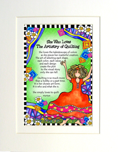 Artistry of Quilting art print matted