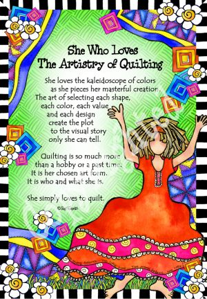 Artistry of Quilting art print