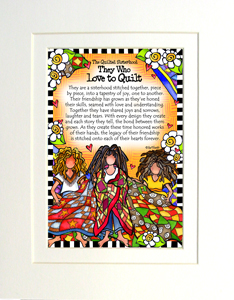 Quilted Sisterhood art print matted