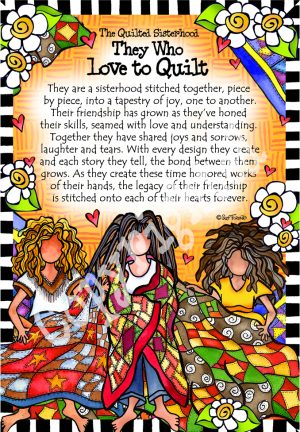 Quilted Sisterhood art print