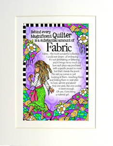 Magnificent Quilter art print matted