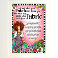 """Ask not what your Fabric can do for you… but what You can do with such great Fabric – 8 x 10 Matted """"Gifty"""" Art Print"""