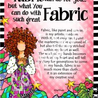 "Ask not what your Fabric can do for you… but what You can do with such great Fabric – 8 x 10 Matted ""Gifty"" Art Print"