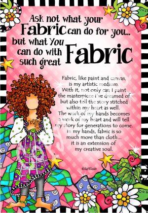 Ask not fabric art print