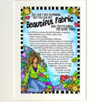 "You can't buy happiness, but you can buy Beautiful Fabric and that's kinda the same thing – 8 x 10 Matted ""Gifty"" Art Print"