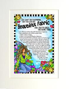 Beautiful Fabric art Print matted
