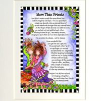 """More Than Friends – 8 x 10 Matted """"Gifty"""" Art Print"""