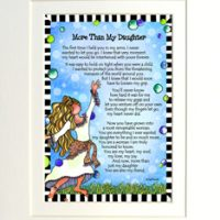 "More Than My Daughter – 8 x 10 Matted ""Gifty"" Art Print"