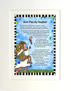 More than my daughter art print matted