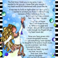 """More Than My Daughter – 8 x 10 Matted """"Gifty"""" Art Print"""