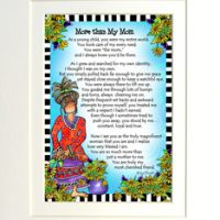 """More Than My Mom – 8 x 10 Matted """"Gifty"""" Art Print"""