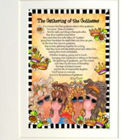 """Gathering of the Goddesses (with story on front) – 8 x 10 Matted """"Gifty"""" Art Print"""