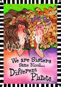 We are sisters art print