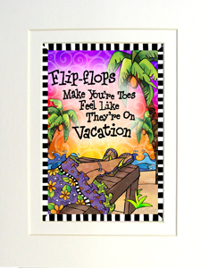 Vacation Toes art print matted