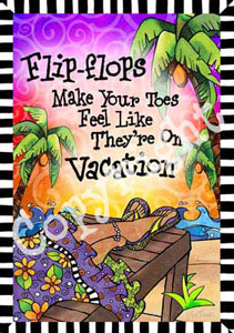 Vacation Toes art print