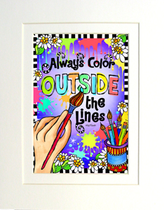 Color art print matted