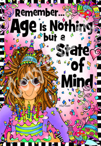Age is Nothing art Print