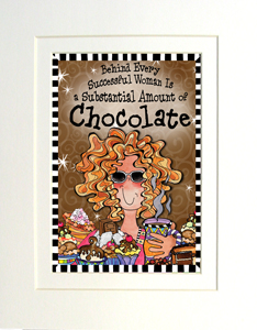 Chocolate art print matted