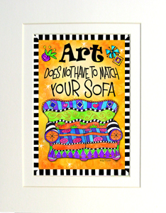 Art Sofa art print matted
