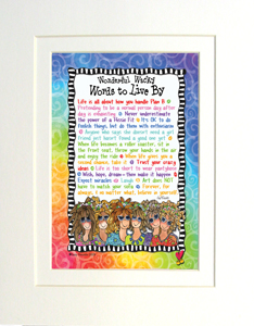 Words to Live By Print matted