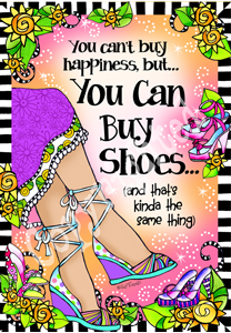 Happiness shoes print