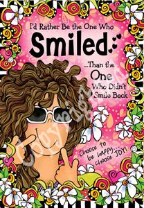 Smiled art print
