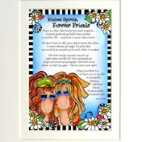 "Kindred Spirits, Forever Friends (with Story) – 8 x 10 Matted ""Gifty"" Art Print"