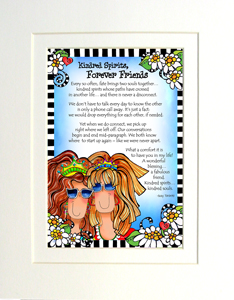 Forever Friends art print matted