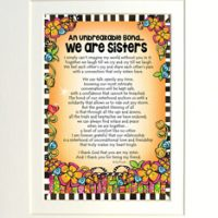 "An Unbreakable Bond… We are Sisters – 8 x 10 Matted ""Gifty"" Art Print"