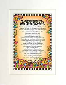 we are sisters art print matted