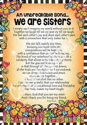 we are sisters art print