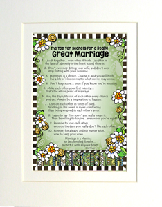 Great marriage art print matted
