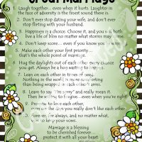 """The Top Ten Secrets For a Really Great Marriage – 8 x 10 Matted """"Gifty"""" Art Print"""
