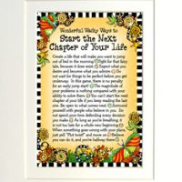 "Wonderful Wacky Words to Start the Next Chapter of Your Life – 8 x 10 Matted ""Gifty"" Art Print"