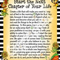 """Wonderful Wacky Words to Start the Next Chapter of Your Life – 8 x 10 Matted """"Gifty"""" Art Print"""